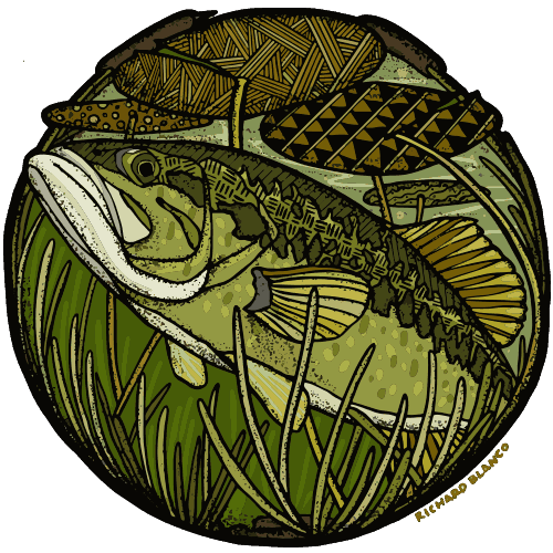Richard Blanco Bass Fly Fishing Sticker