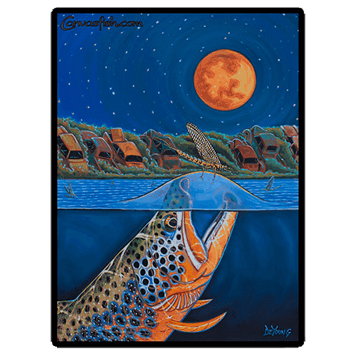 Derek DeYoung - Harvest Moon Rising Brown