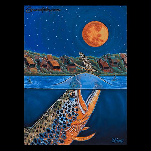 Derek DeYoung - Harvest Moon Rising Brown