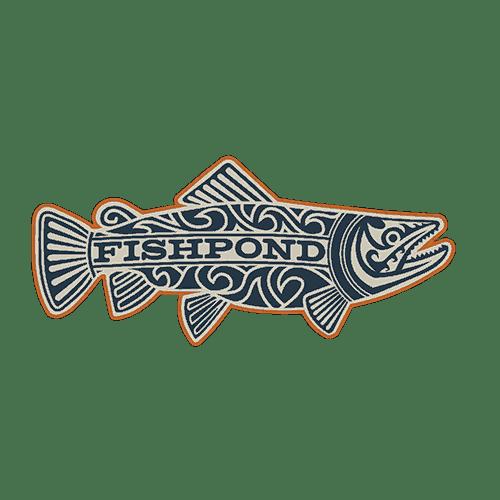 Fishpond maori trout sticker fly fishing stickers and decals for Fishing stickers and decals