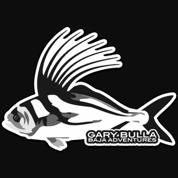 Gary Bulla Baja Rooster Fish Sticker