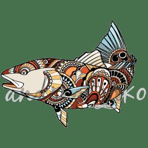 Andrea Larko Zentangle Redfish Sticker