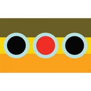 Nate Karnes Brown Trout Flag Sticker