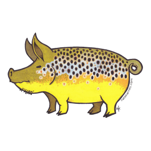 Nate Karnes Pig Brown Trout Decal