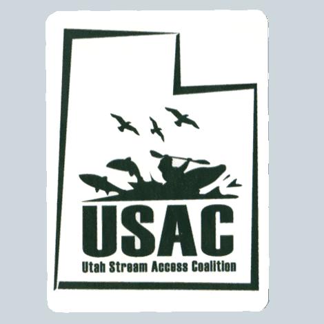 Utah Stream Access Coalition Logo Sticker