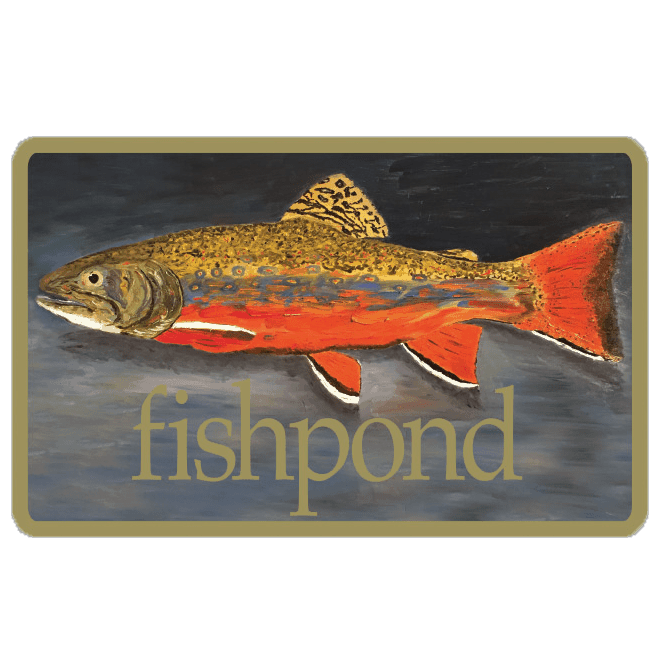 Fishpond brookie fly fishing stickers and decals for Fishpond fly fishing