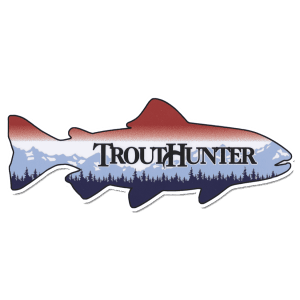TroutHunter Die Cut Fish Sticker