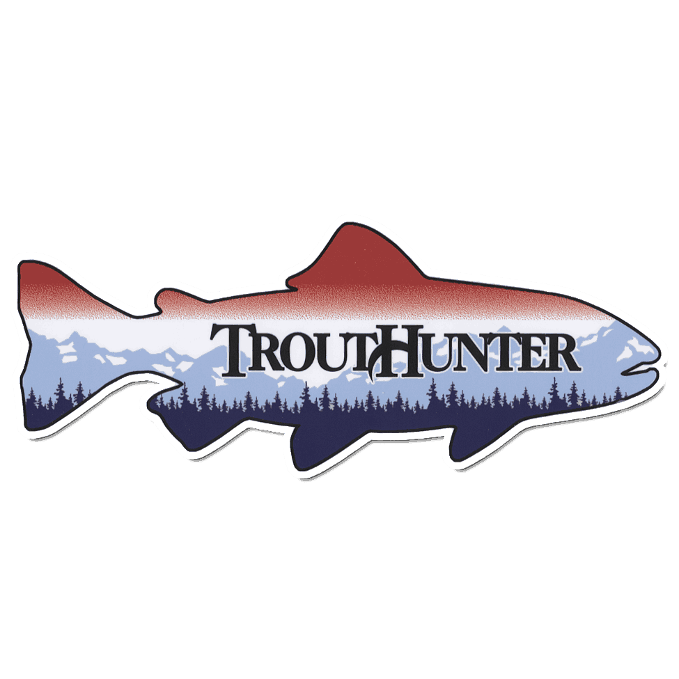 Trouthunter die cut fish sticker fly fishing stickers for Free fishing stickers