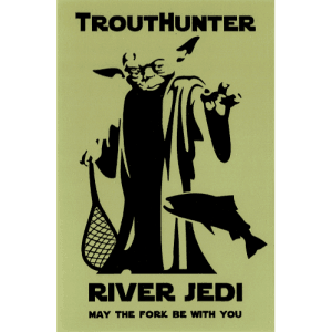 TroutHunter River Jedi Sticker
