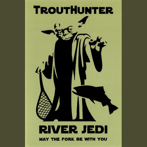 TroutHunter River Jedi Sticker