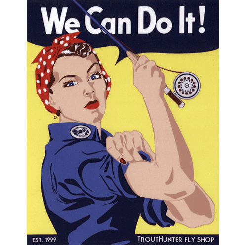 TroutHunter We Can Do It Sticker