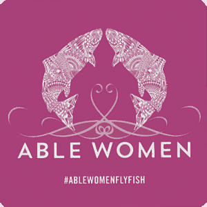 Able Women Fly Fish Logo Sticker
