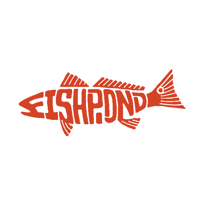 Fishpond thermal die cut sticker redfish 8″