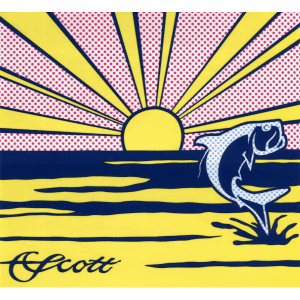 Scott Tarpon Rising Sun Decal