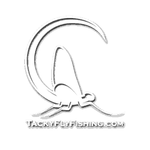 Tacky Fly Fishing Mayfly Logo Decal Website