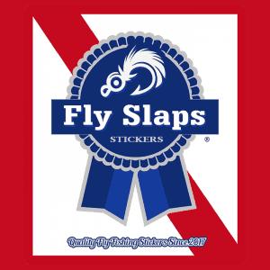 Fly Slaps Blue Ribbon Sticker