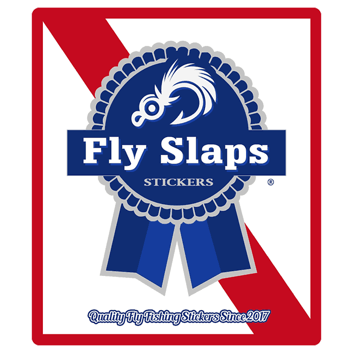 Fly slaps blue ribbon sticker