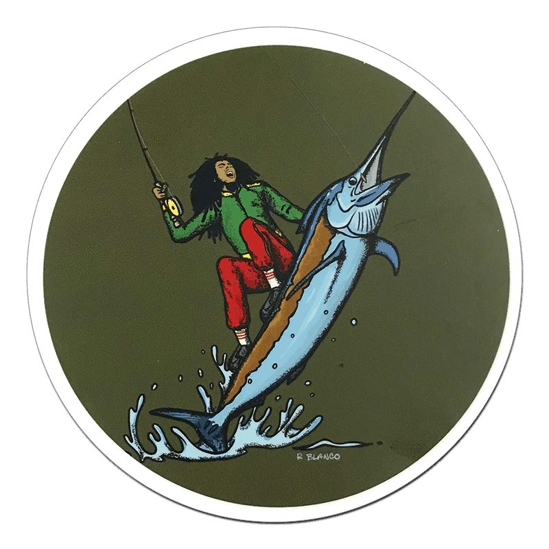 Richard Blanco Bob Marlin Stickers