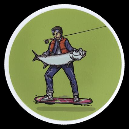 Richard Blanco Marty McFly Sticker