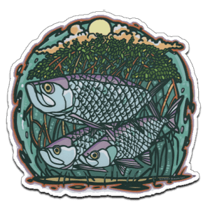 Richard Blanco Threes Company Tarpon Sticker