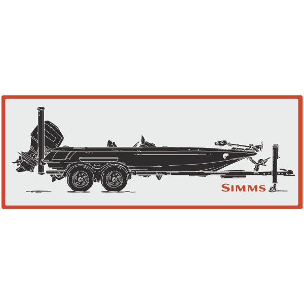 Simms Boat Bass Decal