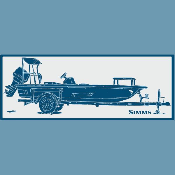 Simms Boat Skiff Sticker