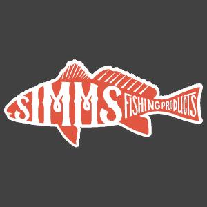 Simms Woodblock Redfish Decal