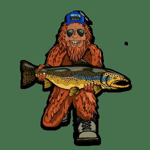 Bozeman CreativeTrout Huntin Squatch Sticker