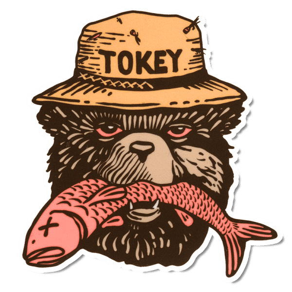 Richard Blanco Tokey Bear Sticker