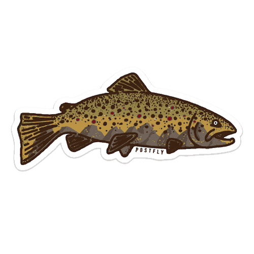 Postfly Brown Trout Mountain