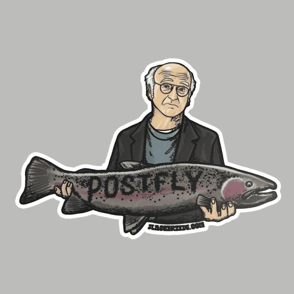 Postfly Larry David Sticker