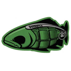 Strippin Flywear Grenade Trout Sticker