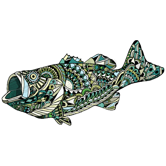 Andrea Larko Largemouth Bass Sticker