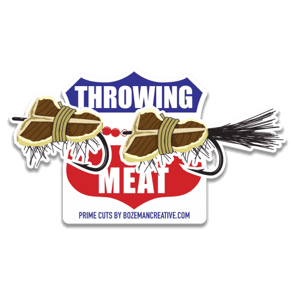 Bozeman Creative Throwing Meat Sticker