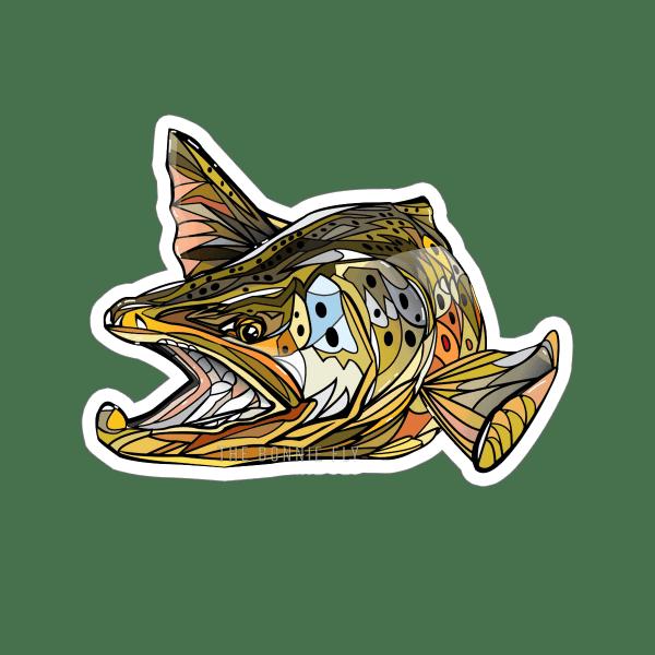 Brandon Finnorn Brown Trout Sticker