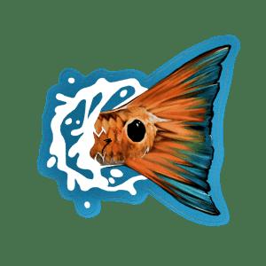 Brandon Finnorn Redfish Tail Splash Sticker