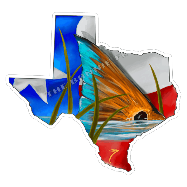Brandon Finnorn Texas Redfish Sticker