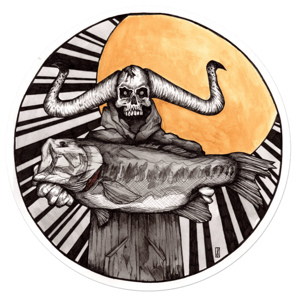 Jake Keeler Bringer of Bucketmouth Largemouth Bass Sticker