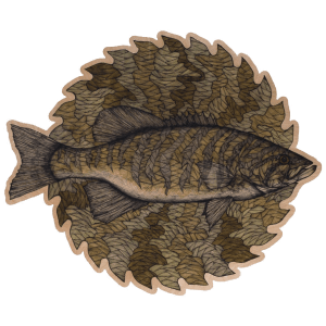 Jake Keeler Free The Fighter Saul Rapids Smallmouth Bass Sticker