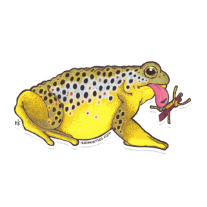 Nate Karnes Toad Brown Trout Sticker