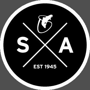Scientific Anglers SA Circle on Black Sticker