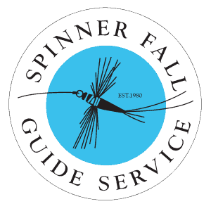 Spinner Fall Guide Service Logo Clear Round Sticker