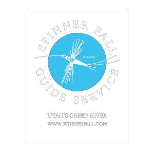 Spinner Fall Guide Service Logo Clear Sticker