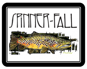 Spinner Fall Guide Service Mathew Stockton Brown Trout Sticker