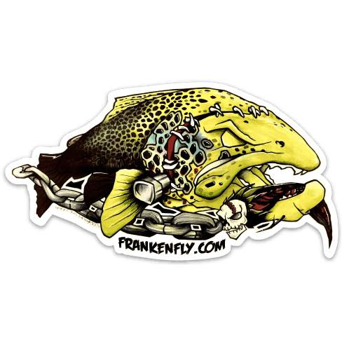 FrankenFly Brown Trout Sticker
