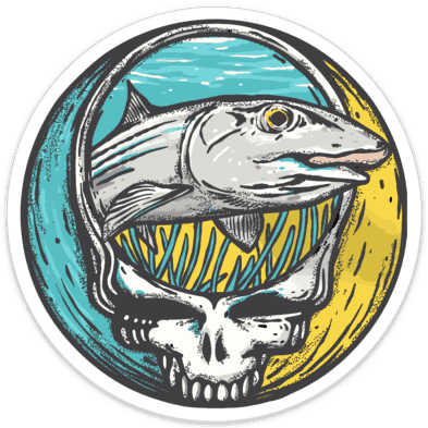Richard Blanco Steal Your Face Bonefish Sticker