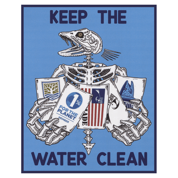 Rising Keep The Water Clean Sticker