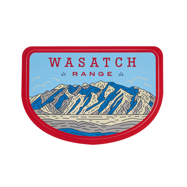 Sendero Mountain Range Wasatch Sticker