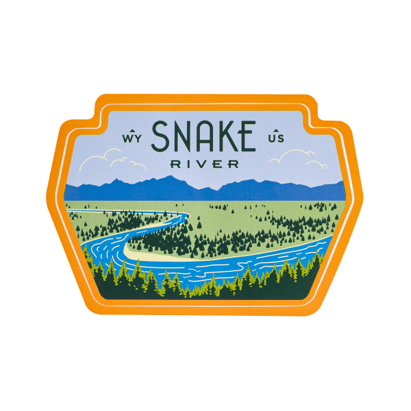 Sendero River Snake Sticker