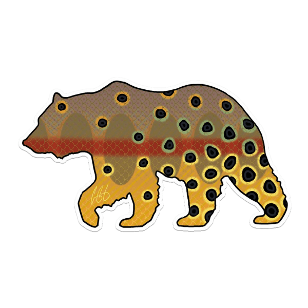 Casey Underwood California Bear Golden Trout Sticker